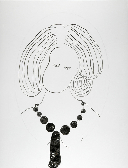 Portrait of Young Girl Wearing Her First Necklace
