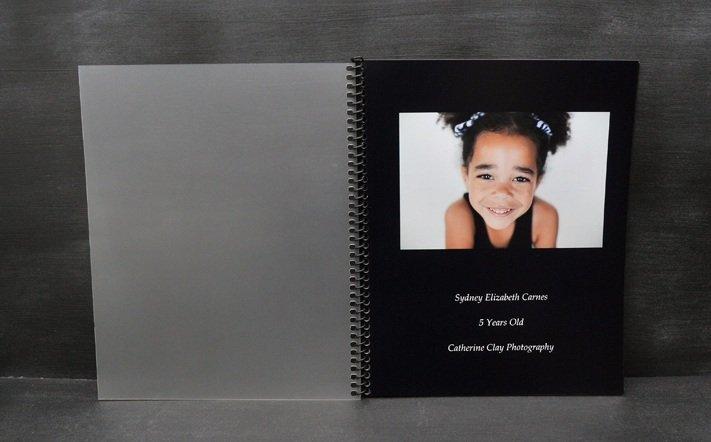 Spiral bound photo book