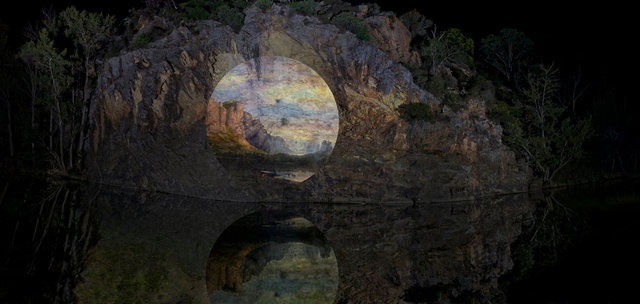Apparitions #1 - Mount Arapiles and the Mitre Rock 1863, Nicholas Chevalier , 2014