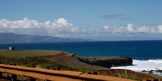 Vista do mar saindo de Haiku