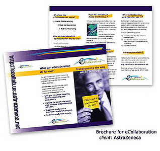 Brochure to promote online meeting software