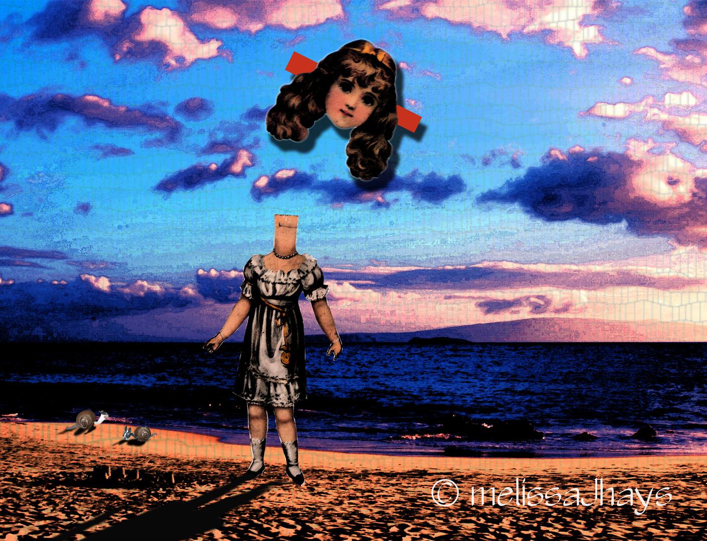 Agatha Gets Tan in the Sand