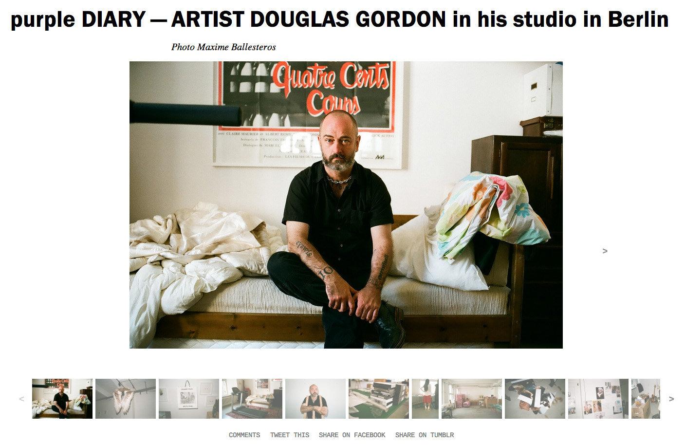 purple DIARY   ARTIST DOUGLAS GORDON in his studio in Berlin.jpg
