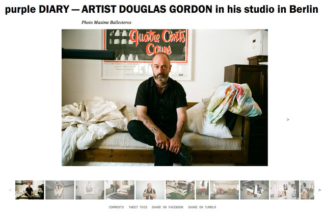 purple DIARY   ARTIST DOUGLAS GORDON in his studio in Berlin.jpg