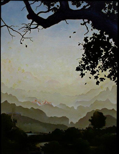 "San Antonio Commute, 2010, oil on canvas, 36x48"""