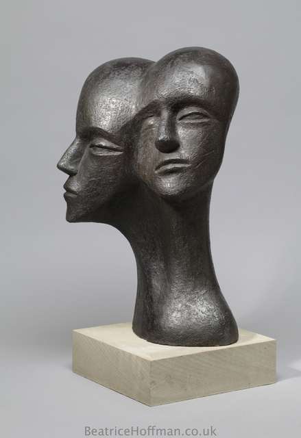 Heads Stretched Apart   2008,   50 x 34 x 24cm   Painted Ceramic, RP£1750