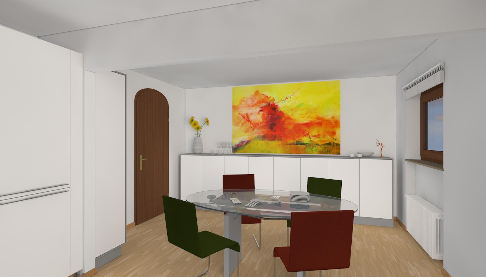 Umwandlung Bestandswohnung | Küche Sideboardmöbel