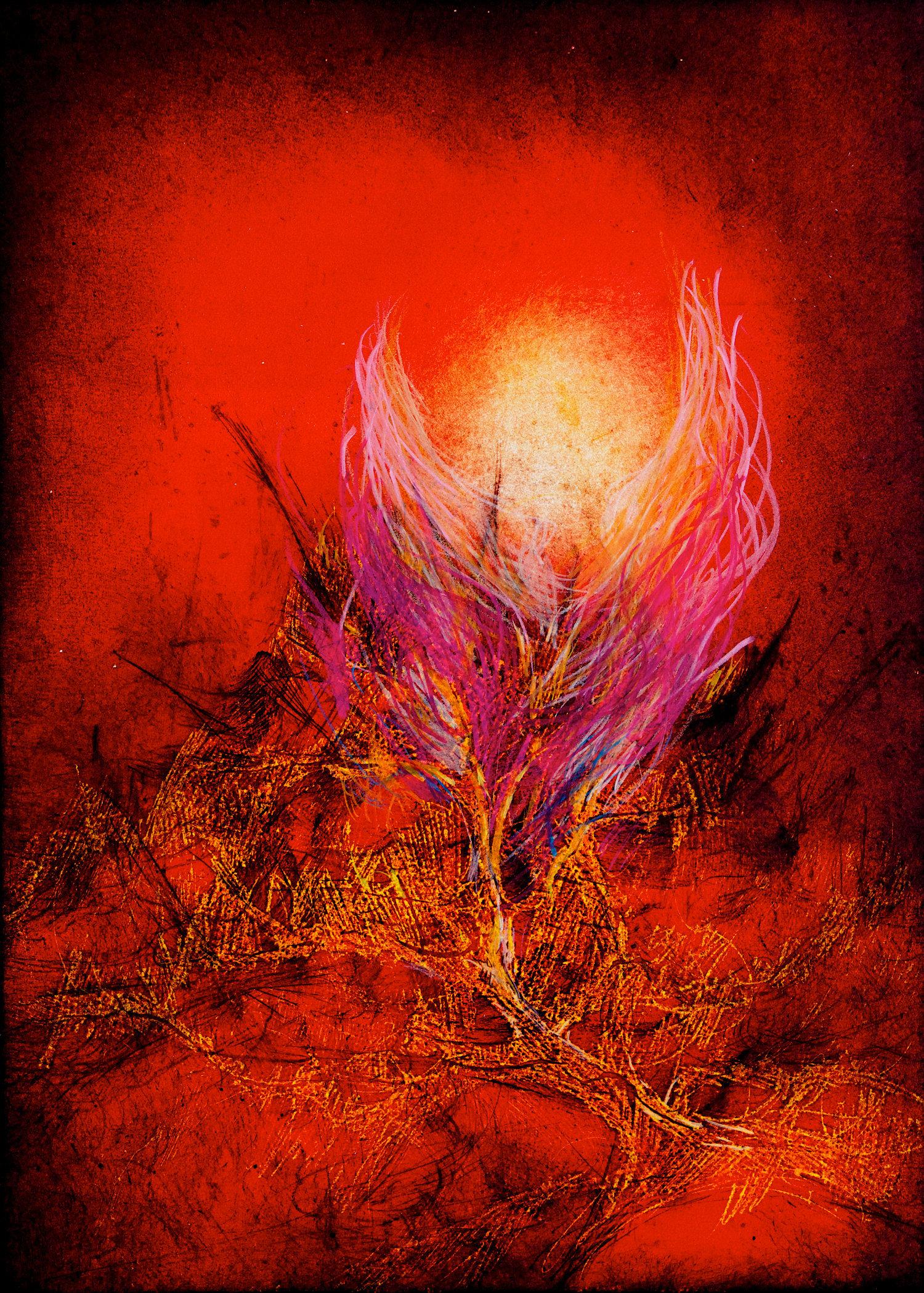 Der Engel des Herrn im brennenden Dornbusch