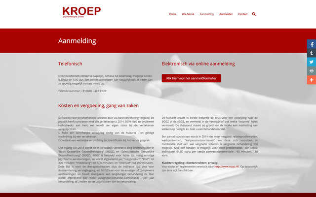 New website for Kroep-Psychotherapie Zwole