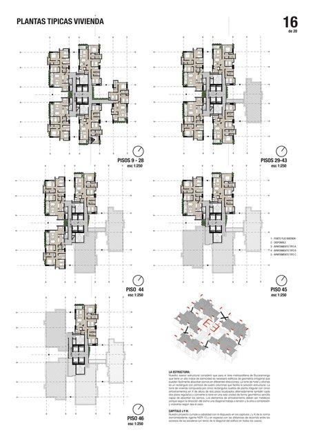 Planta de apartamentos / Apartaments plans
