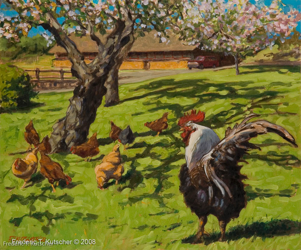 2008-15 Rooster Rules (24W  20H oil on canvas board).jpg