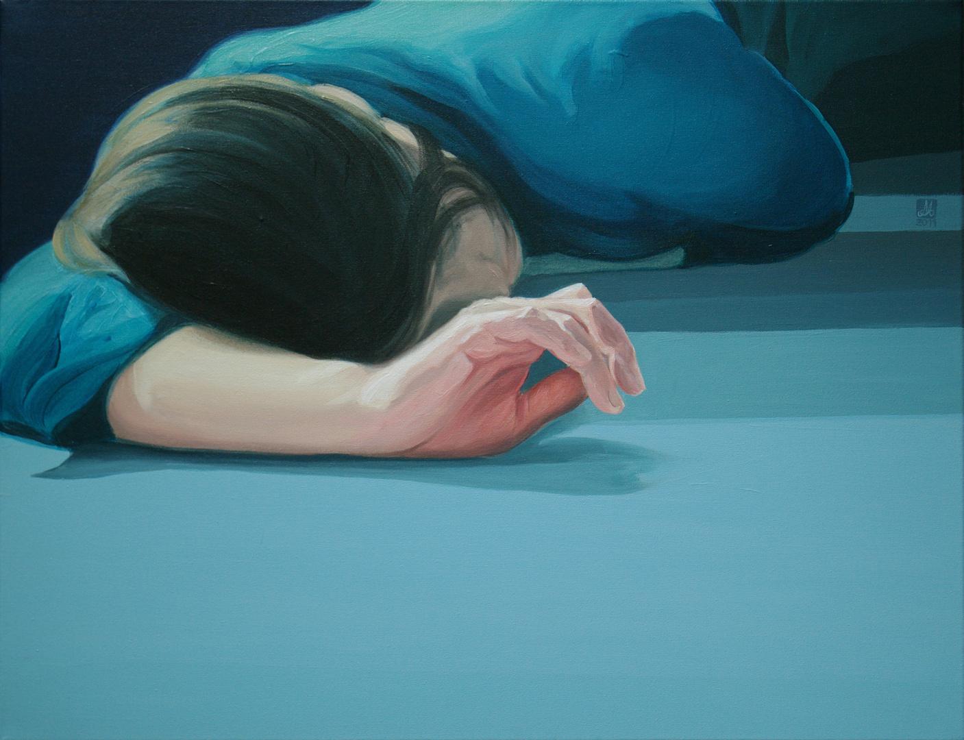 Pam pam, akryl na płótnie, 50x65, 2011