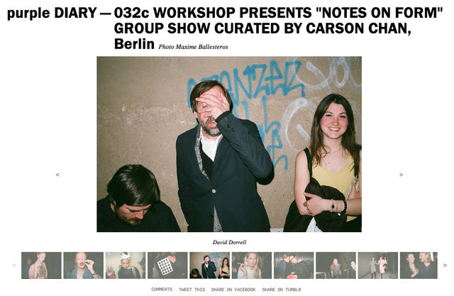 purple DIARY   032c WORKSHOP PRESENTS  NOTES ON FORM  GROUP SHOW CURATED BY CARSON CHAN  Berlin.jpg