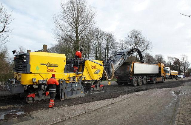 asfalt schrapen