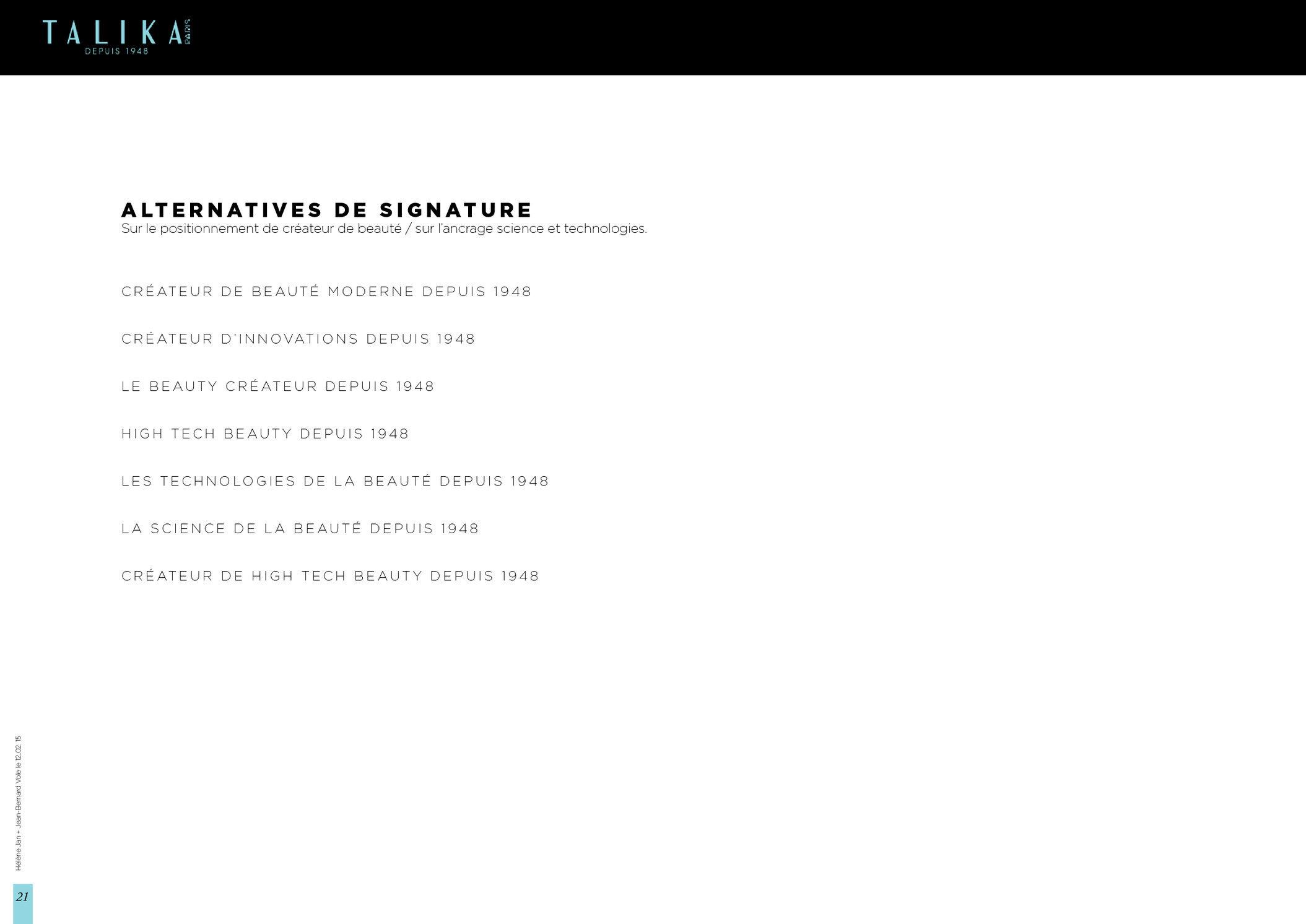 """<font color=""""#aaa7a6"""">Talika : plateforme créative (21/21).</font>"""