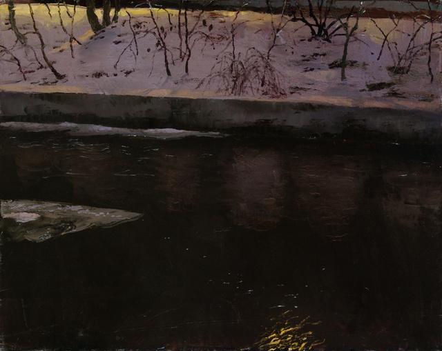 "Cascadilla Creek, Night, 24 x 30"" sold"
