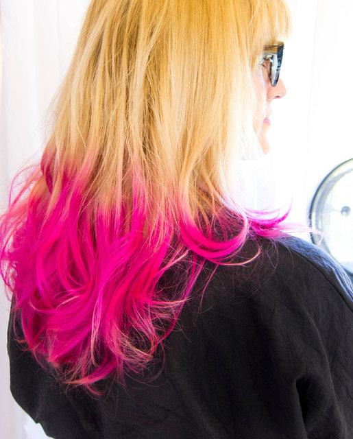 Pink Balayage with Elumen ionic color