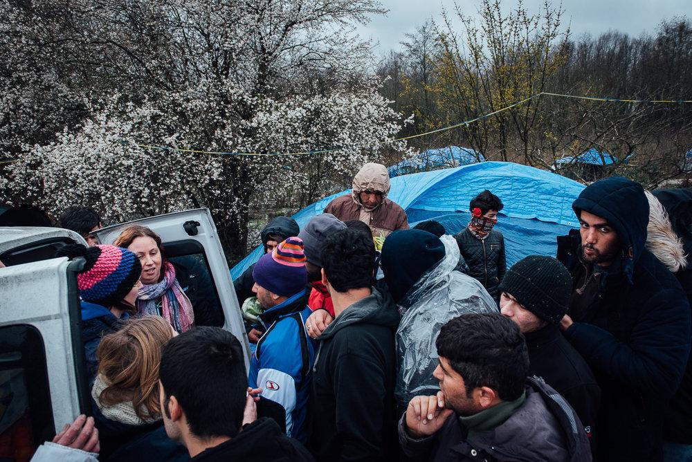 Grande-Synthe refugee camp.