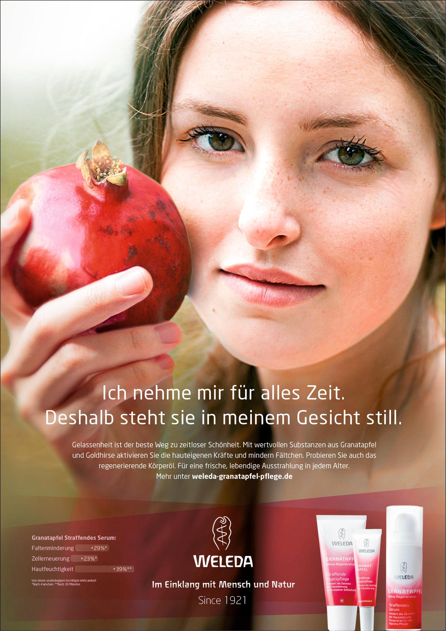 Weleda / Anzeigenkampagne (Entwurf)