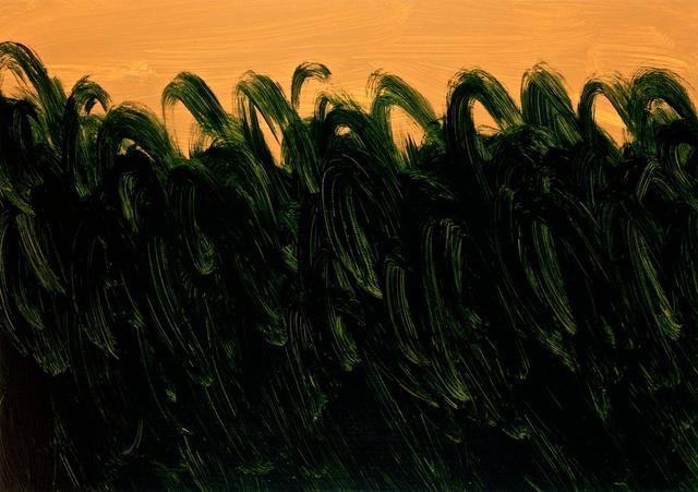 Deep Green on Warm Ochre, 2011.