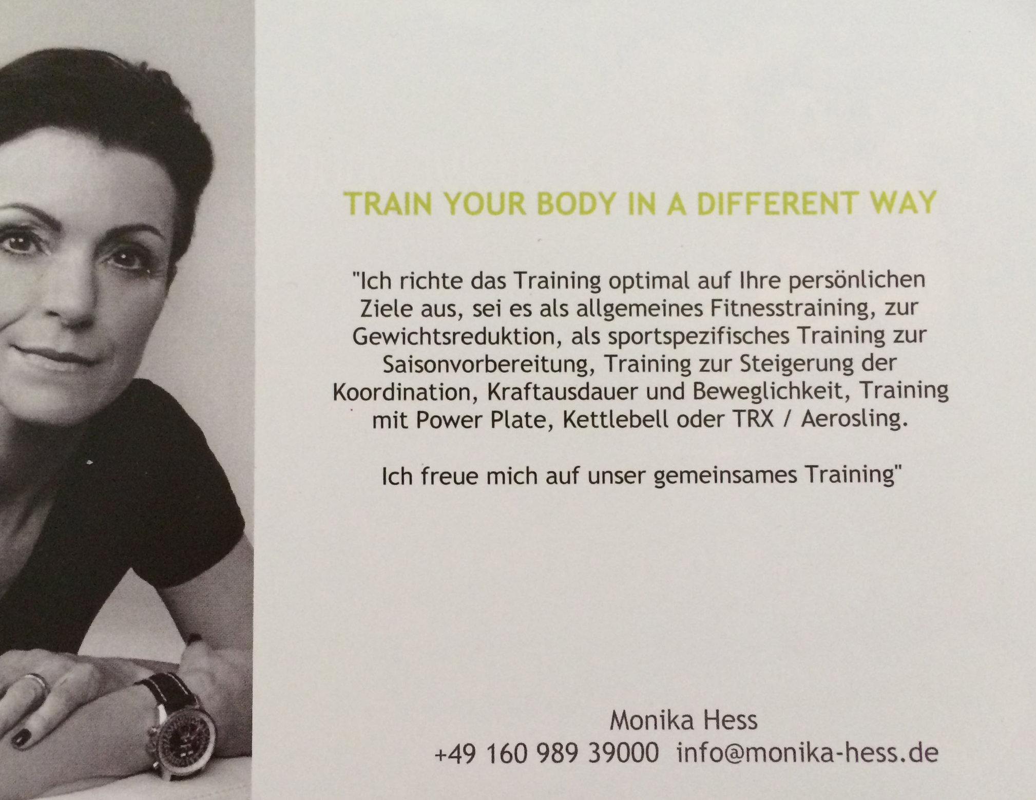Kunde Monika Hess Personal Training