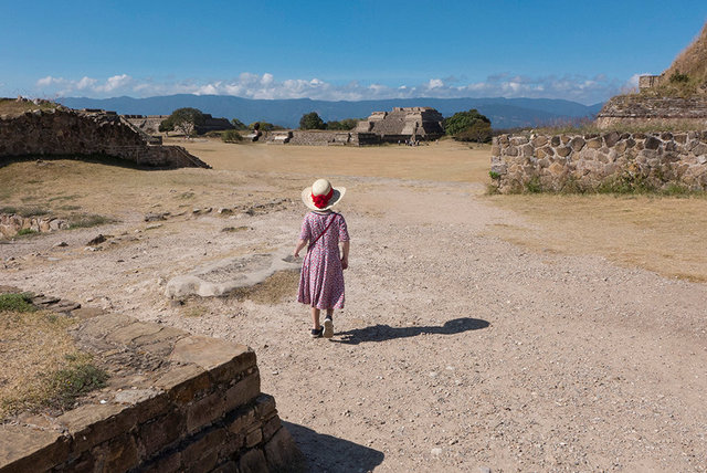 Tilly at Monte Alban