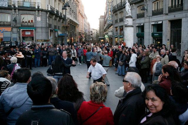 madrid - dansen op straat