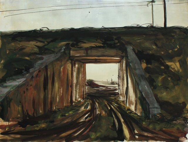 "Jersey Underpass II   22 x 29"""