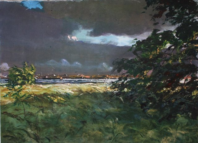 """Stormy Fall Day    22 x 28"""""""