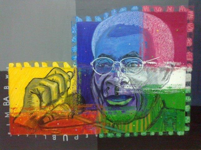 Dyktatorzy:Mugabe, 70x100 akryl płótno