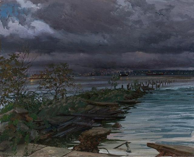 "Twilight- Staten Island Ferry  34 x 44"""