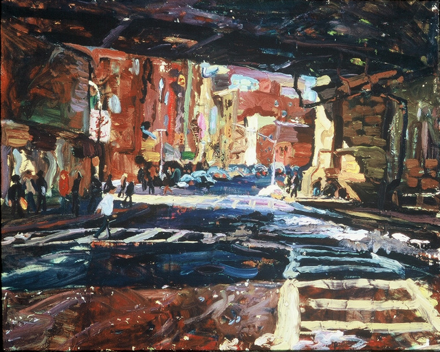 Under Manhattan Bridge, 24 x 30""