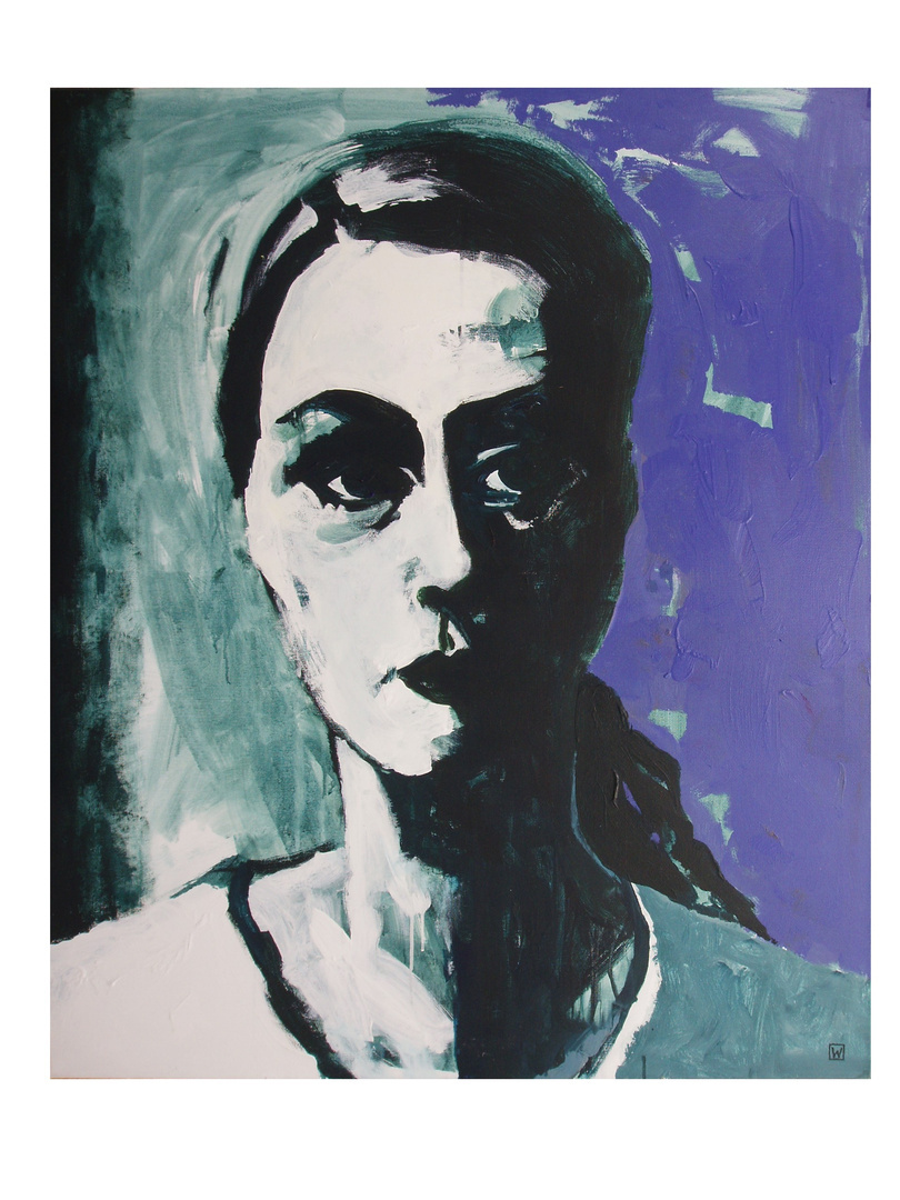 """""""Christiane F."""", akryl na płótnie, 120 x 100"""