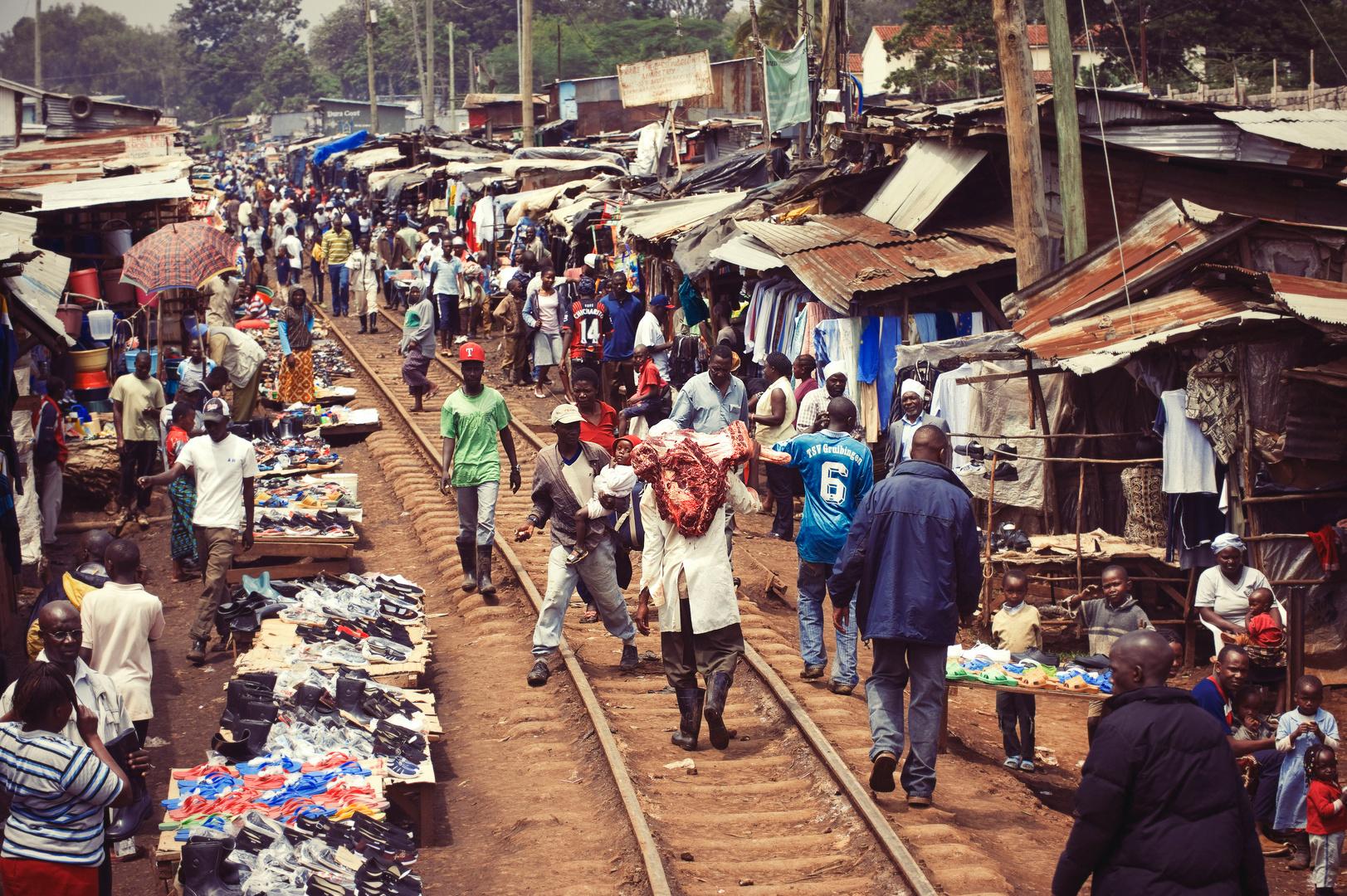 Sloppenwijk Kibera in Kenia