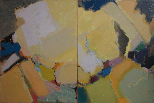'Abstract composition' 120X200cm 2016 (diptych) oil on canvas