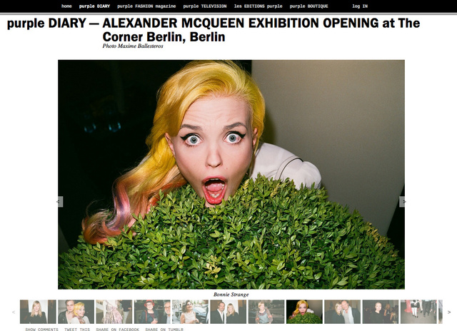 purple DIARY   ALEXANDER MCQUEEN EXHIBITION OPENING at The Corner Berlin  Berlin.png