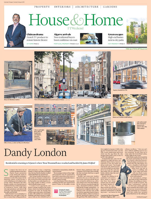 Dandy London, FT Weekend House and Home, August 2015