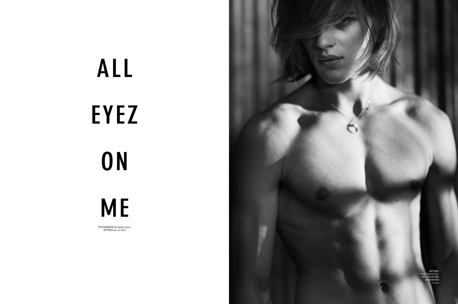 ALL EYEZ ON ME for  l'Officiel Hommes NL with Ton Heukels  styling Jos van Heel beauty Ellen Romein