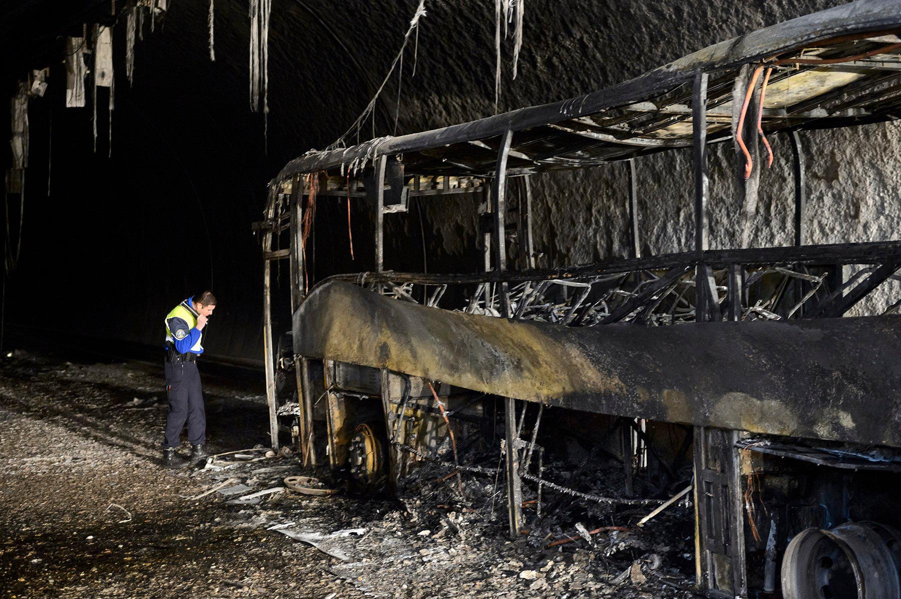 Incendie car tunnel - 2014