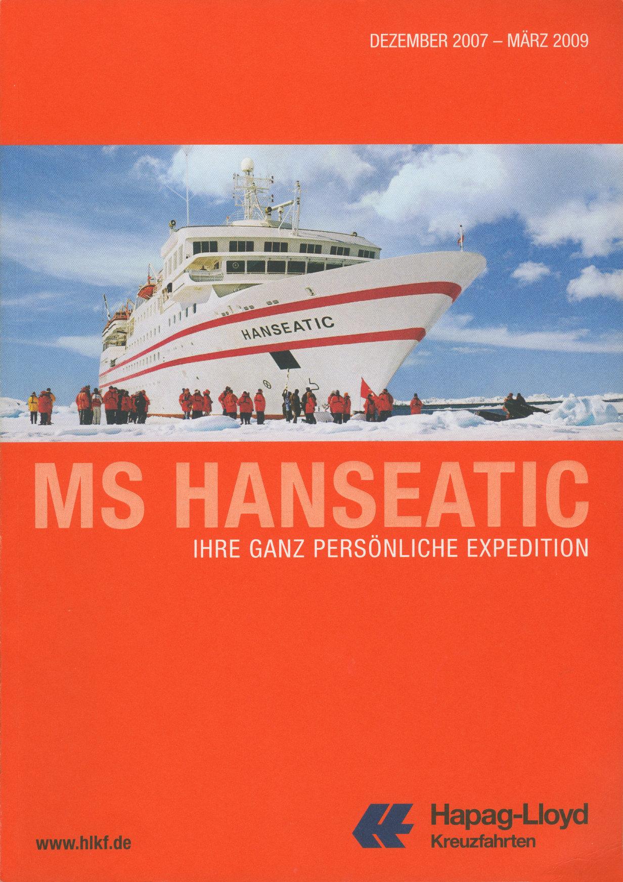 Hapag-Lloyd Kreuzfahrten / MS Hanseatic Katalog