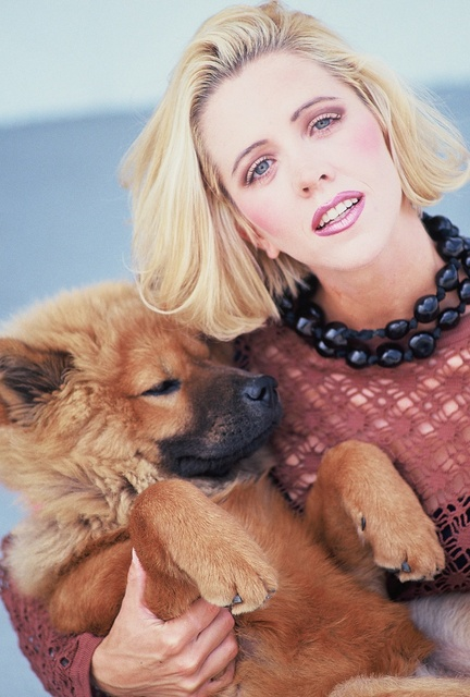 MODEL- FLENNOR COPENHAVER and her little furry friend.