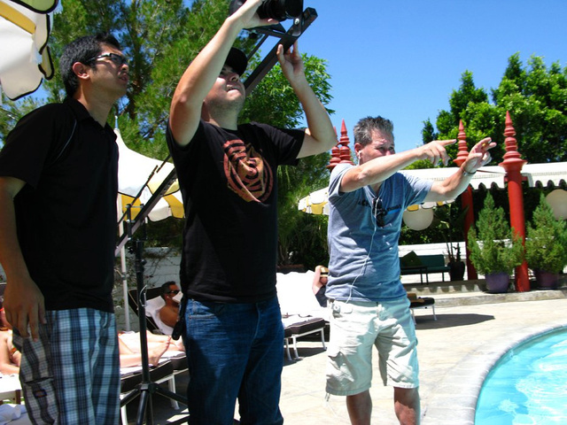 Directing one of the scenes for the web commercial.jpg