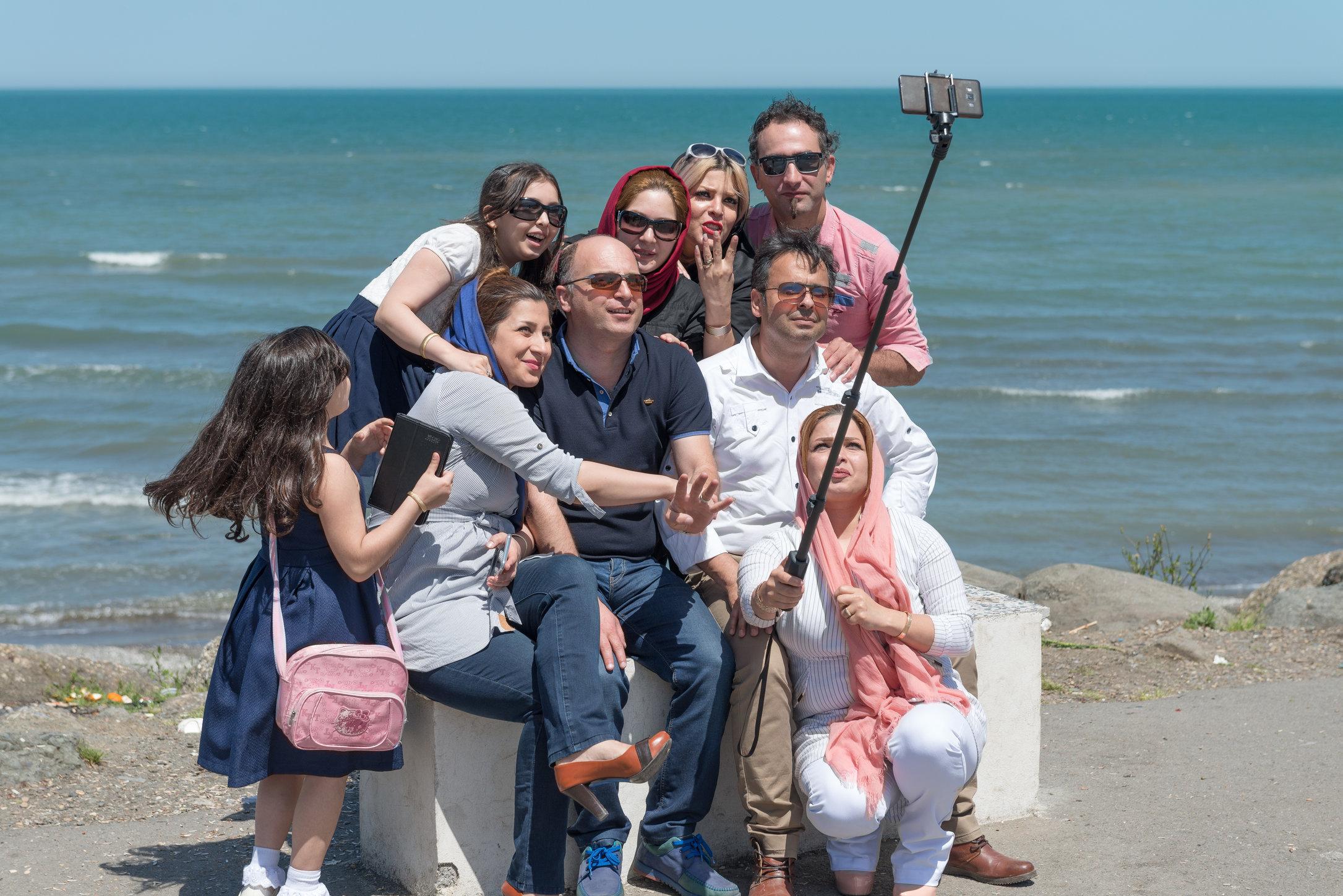along the Caspian Sea