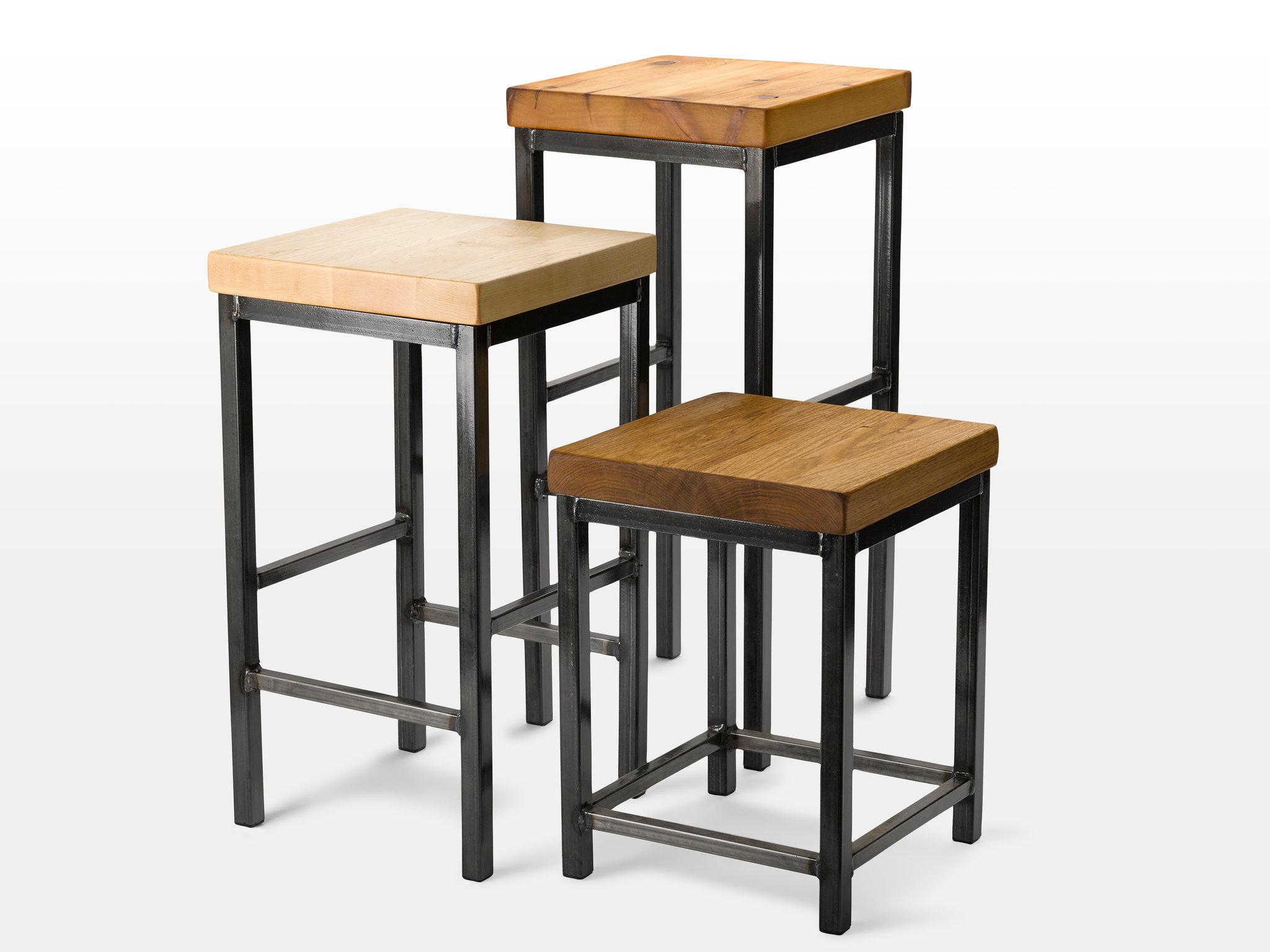 Reclaimed lumber bar stools
