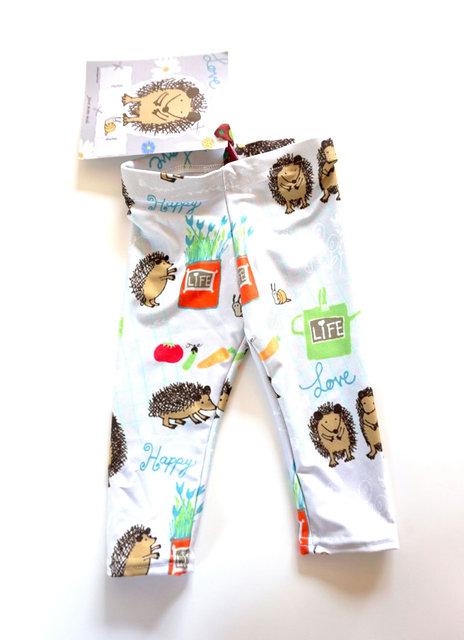 Baby leggings with my Hedgehog textil
