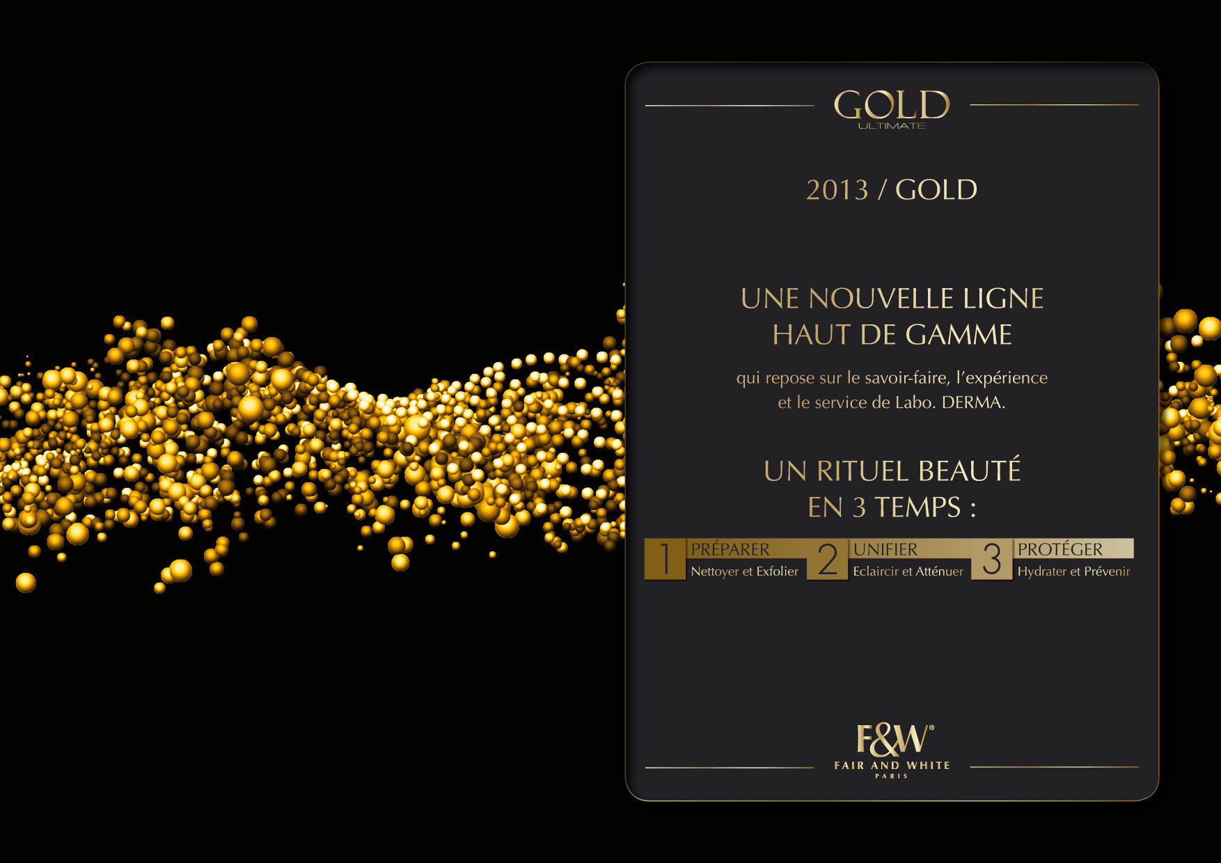 """<font color=""""#aaa7a6"""">Gold : présentation de la gamme (5/20).</font>"""