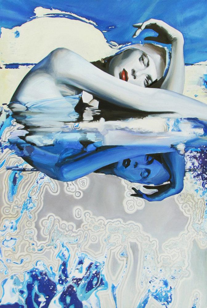 Liquid Identity, akryl płótno 80x120 2012