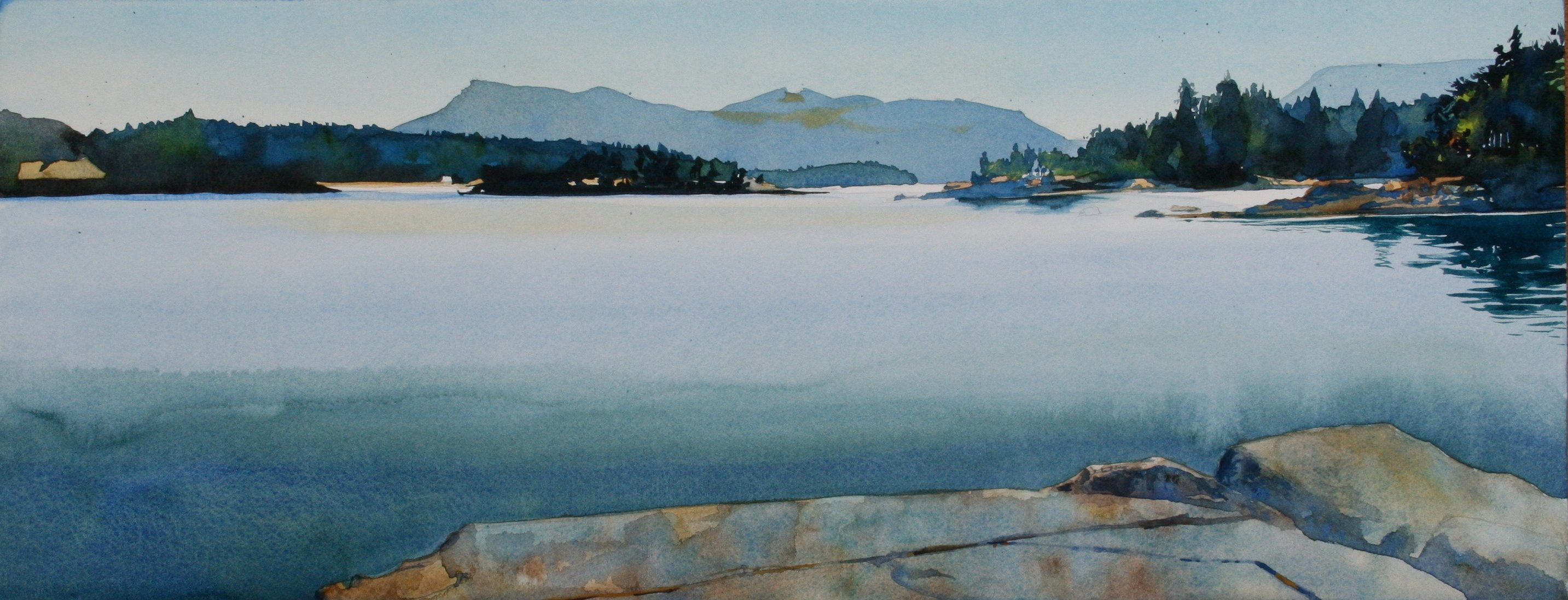 View W. from Chivers Point, Wallace Island (Sold)
