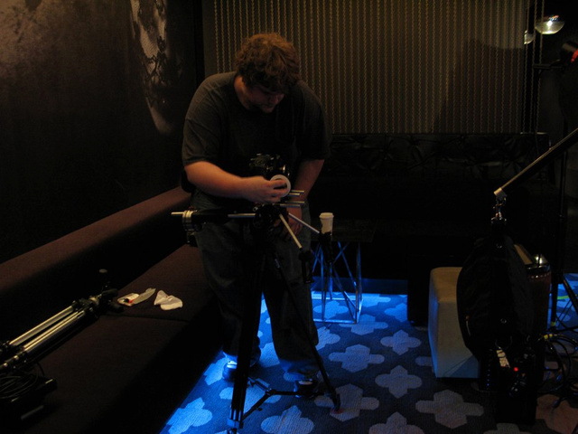 Matt, my DP on the fashion film prepping the gear.jpg
