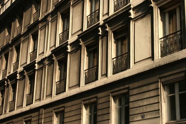 Fenêtres prés de la Cathédrale de Notredame